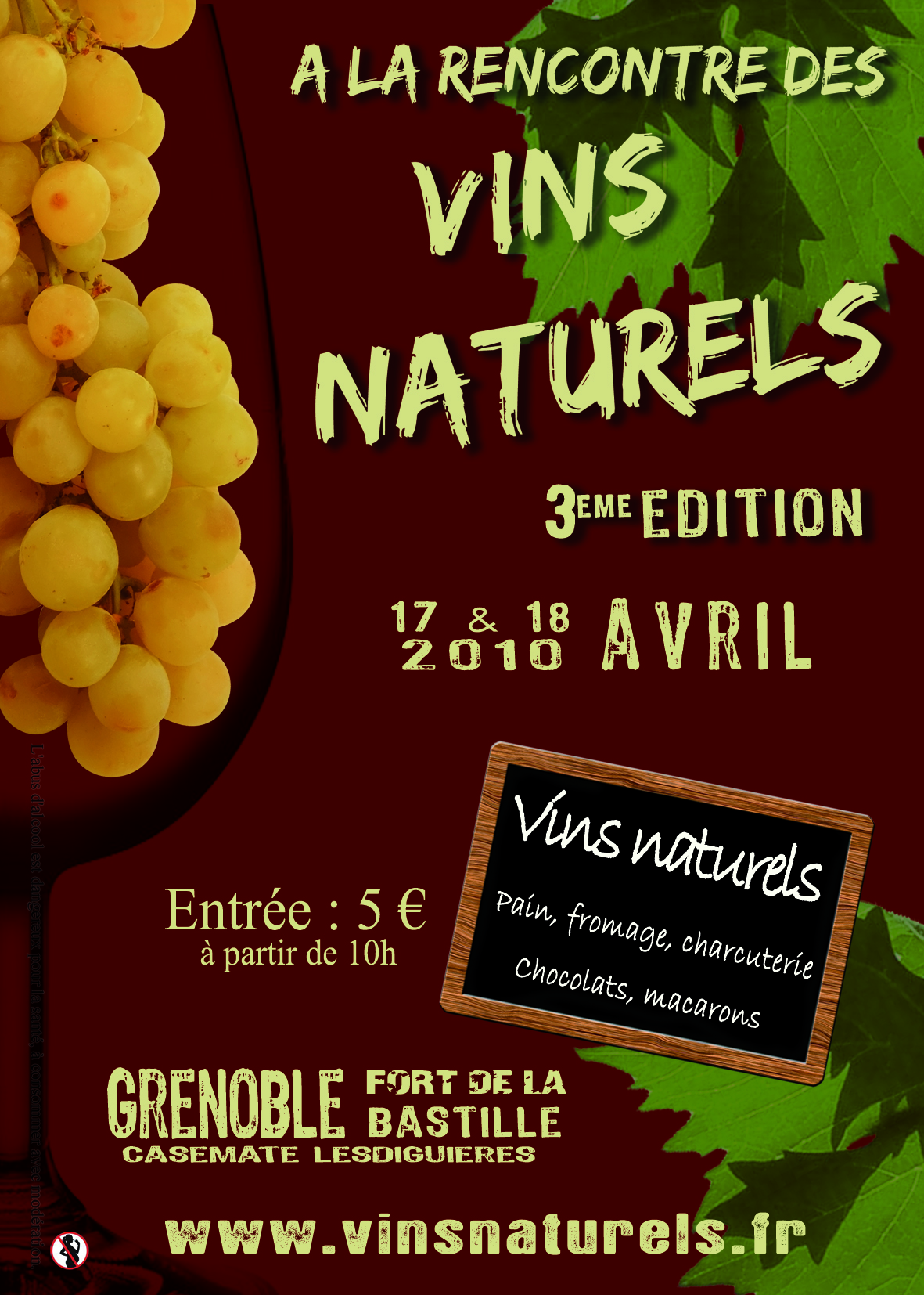Le flyer 2010 salon des vins natures for Salon vin grenoble